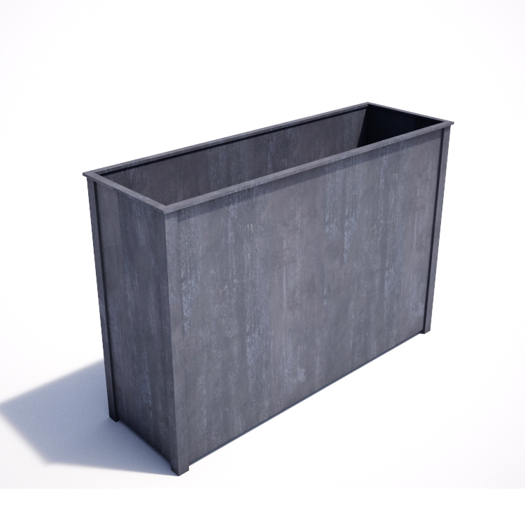 Garden requisites steel planters troughs for Tall planters for privacy
