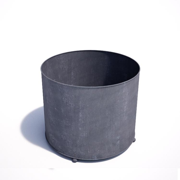 Large Zinc Planter Round