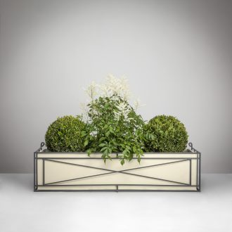 Wrought Iron Window Box with Planter