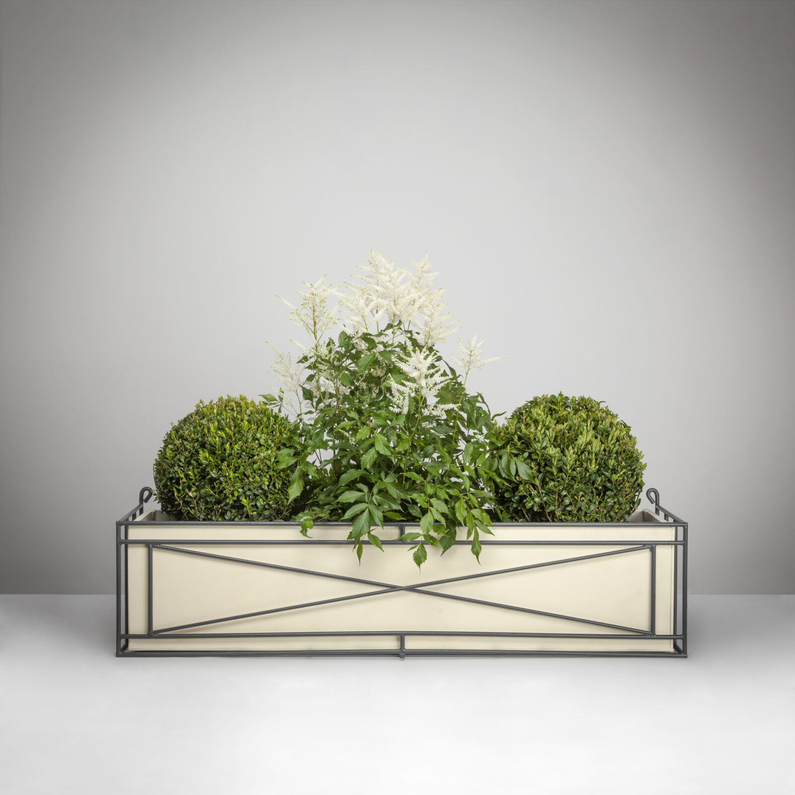 3 Wrought Iron Window Box with Planter