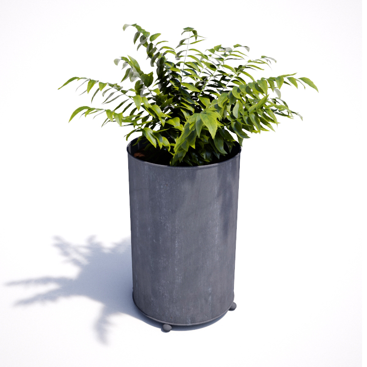 Tall Metal Planter Round