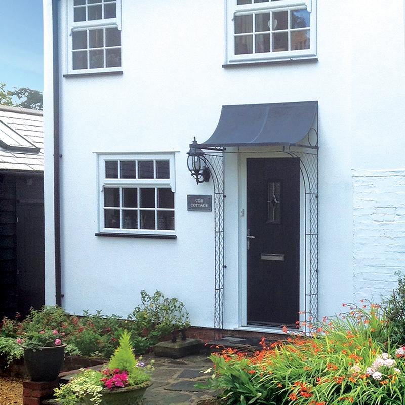 Aged zinc porch