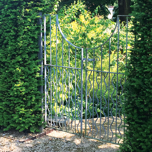 Bespoke Double Garden Gates in steel