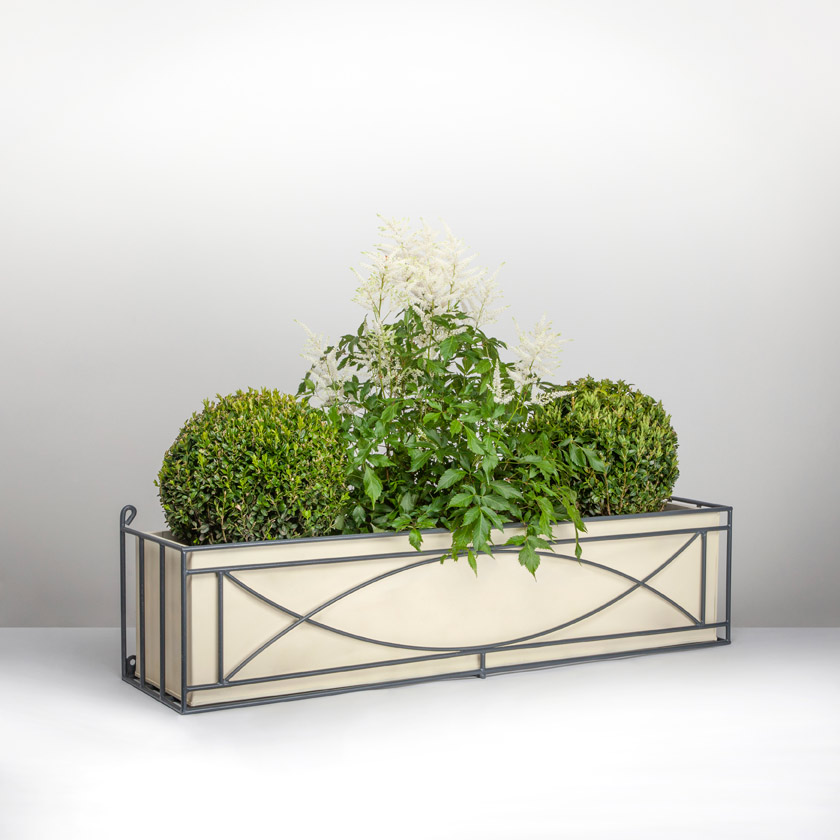 Crescent window box with box