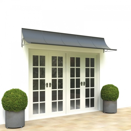 Door canopy over wide doors