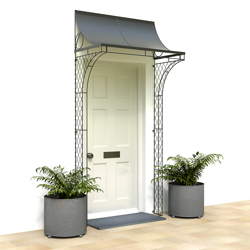 4 Foot Porch With Curved Sides Iron Door Porches