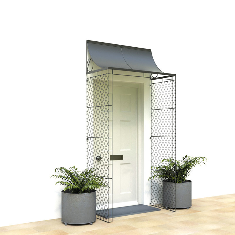 Front Door Porch With Wirework Plants For Your And