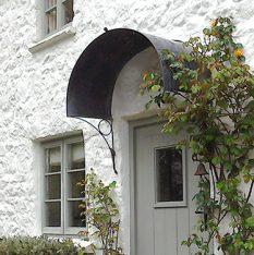 Metal door canopy