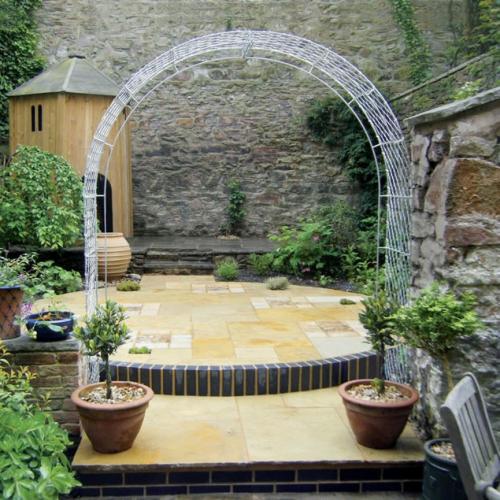 garden arches metal garden arches in wirework