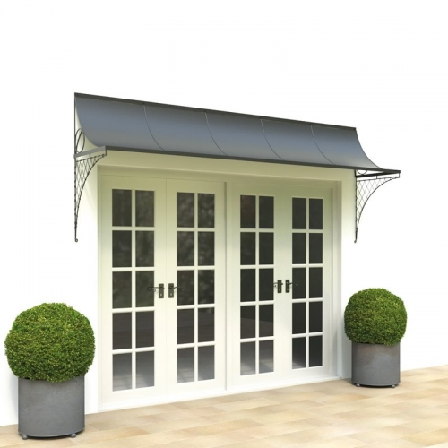 Porch canopy with side brackets