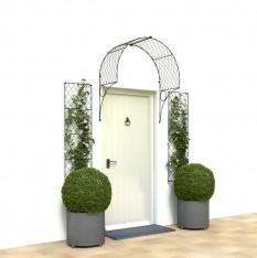 Trellis door canopy