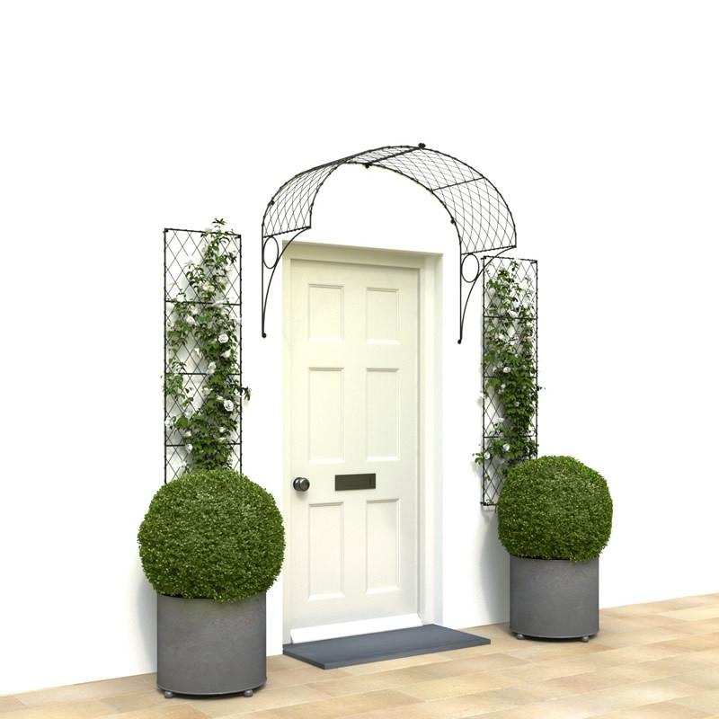 Victorian lattice door canopy
