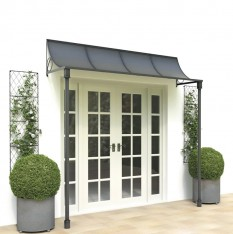 Wide porch with iron columns