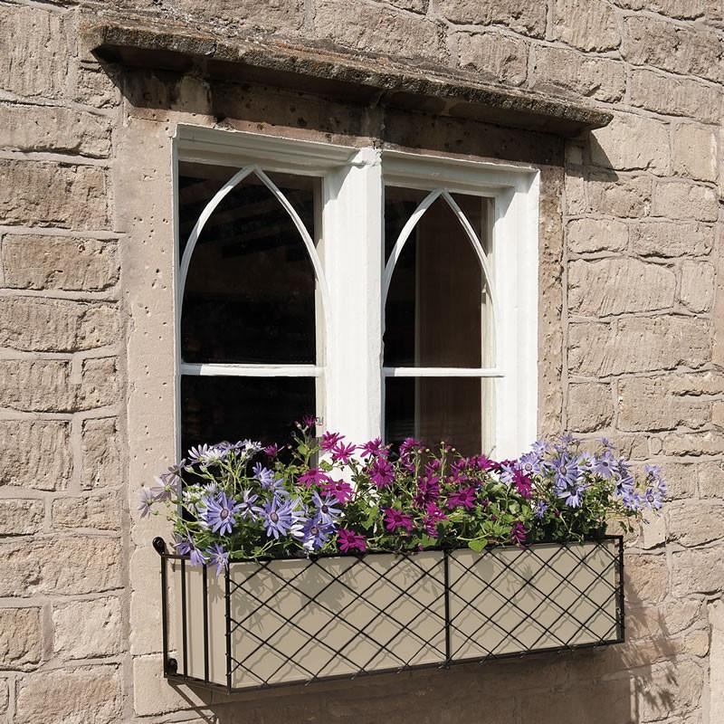 window boxes metal window box displays. Black Bedroom Furniture Sets. Home Design Ideas