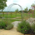 Arch with trellis side panels