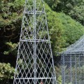 Bespoke obelisk with wirework gazebo