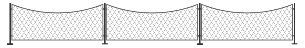 concave wall top trellis panel