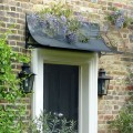 Door canopy in black