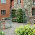 Garden metal arch and trellis panels