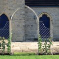 Gothic style arch with side trellis