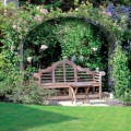 Large ellipse arch with bench