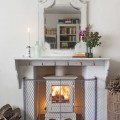 Large fireguard and stove