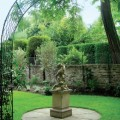 Painted arch in london garden