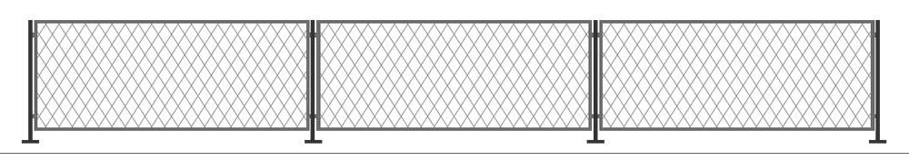 straight wall top trellis panel