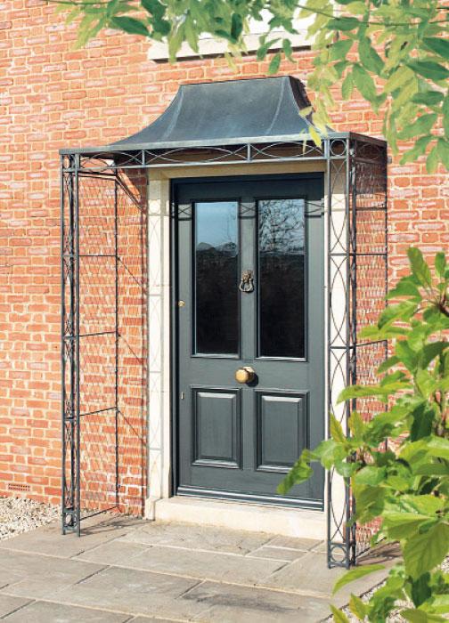 Iron Porches To Decorate Your Doorway Garden Requisites