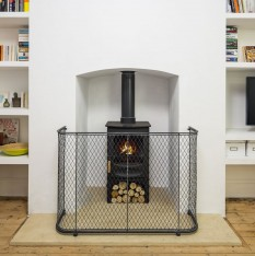 Traditional zinc fire guard