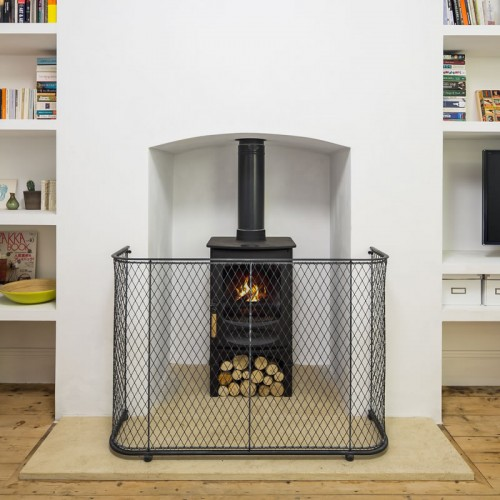 Traditional zinc fire guard