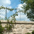 Wall top trellis panels and posts