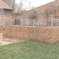 Wall top trellis panels zinc galvanized