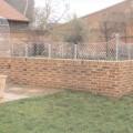 Wall top trellis panels zinc galvanized